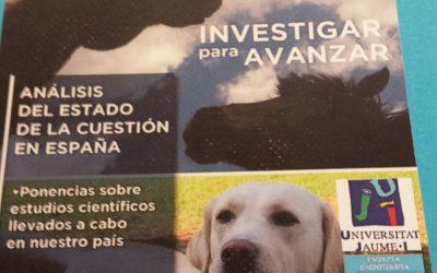 Perroterapia en el I Congreso Intervención terapéutica asistida con animales en los ámbitos de educación y salud